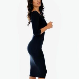 5e7cd1d1b03a Dresses | Lyss Loo True 2 You 34 Sleeve Black Bodycon Midi | Poshmark